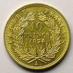 1854 A  tranche lisse  (Paris)    SUP