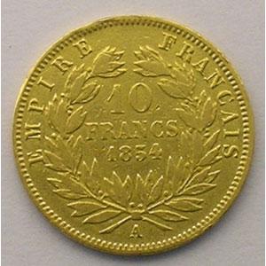 1854 A  tranche lisse  (Paris)    TB/TB+