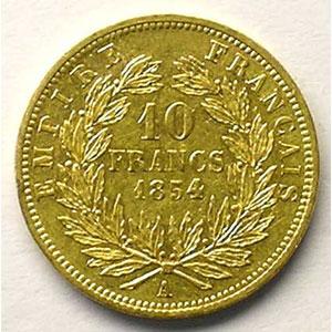 1854 A  tranche lisse  (Paris)    TTB+