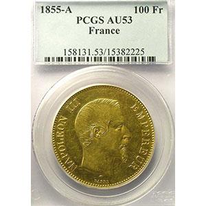 1855 A  (Paris)    PCGS-AU53    TTB+