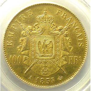 1855 A  (Paris)    PCGS-AU55    TTB+/SUP