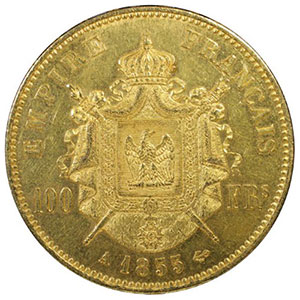 1855 A  (Paris)    PCGS-MS61    SUP/FDC