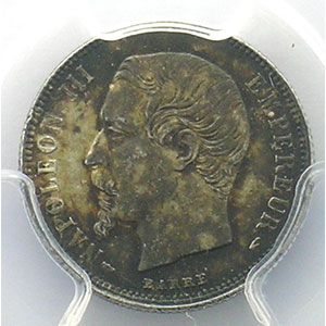 1855 A  (Paris)    PCGS-MS62    SUP/FDC