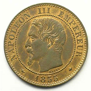 1855 BB chien  (Strabourg)    SUP/FDC