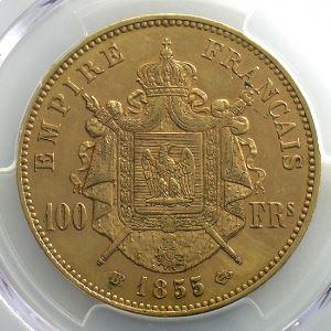 1855 BB  (Strasbourg)    PCGS-AU55    TTB+/SUP