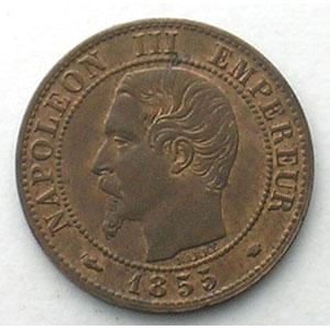 1855 MA chien  (Marseille)    TTB+