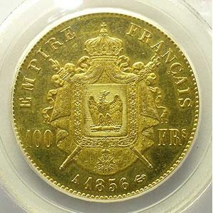 1856 A  (Paris)    PCGS-AU55    TTB+/SUP