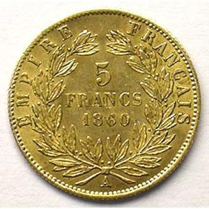1860 A  (Paris)  abeille    TTB