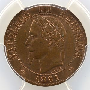 1861 K  (Bordeaux)    PCGS-MS64BN    pr.FDC