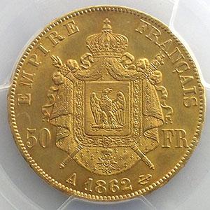1862 A  6 sur 5  (Paris)    PCGS-AU58    SUP