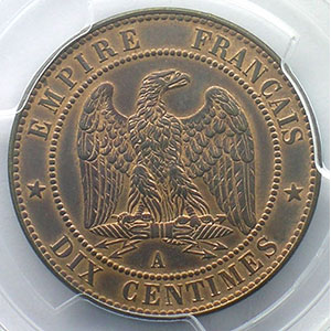 1862 A  (Paris)    PCGS-MS63BN    SUP/FDC
