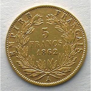 1862 A  (Paris)    TB+/TTB