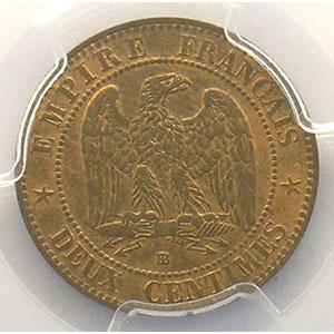 1862 petit BB  (Strasbourg)    PCGS-MS64RB    pr.FDC