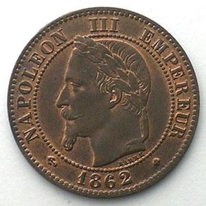 1862 petit BB  (Strasbourg)    SUP/FDC