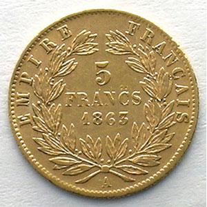 1863 A  (Paris)    TB+/TTB