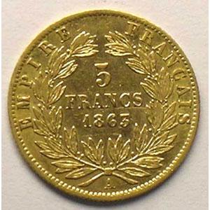 1863 A  (Paris)    TTB