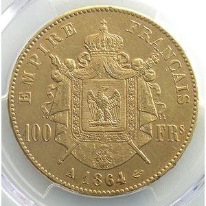 1864 A  (Paris)    PCGS-AU55    TTB+/SUP