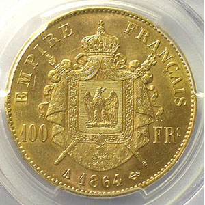 1864 A  (Paris)    PCGS-MS62    SUP/FDC