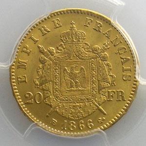 1866 BB  (Strasbourg)    PCGS-MS64   pr.FDC