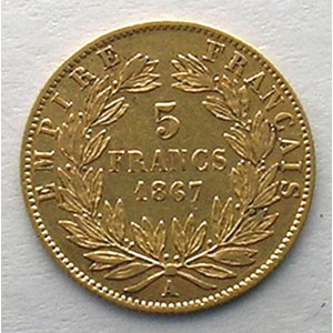1867 A  (Paris)    TB+/TTB