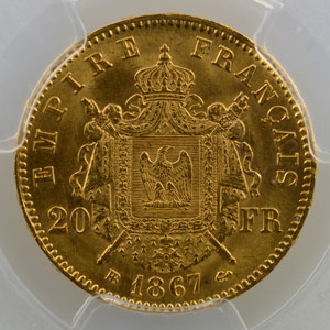 1867 BB  (Strasbourg)    PCGS-MS64   pr.FDC