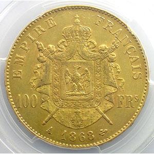 1868 A  (Paris)    PCGS-AU55    TTB+/SUP