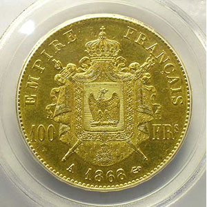 1868 A  (Paris)    PCGS-AU58    SUP
