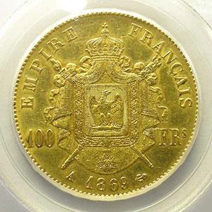 1869 A  (Paris)    PCGS-AU53    TTB+