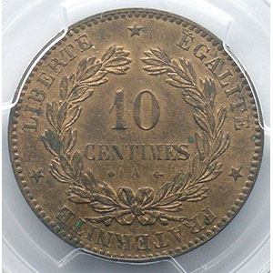 1873 A  (Paris)    PCGS-MS63RB    SUP/FDC
