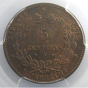 1874 A (Paris)    PCGS-MS64RB    pr.FDC