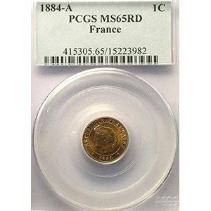 1884 A  (Paris)    PCGS-MS65RD    FDC