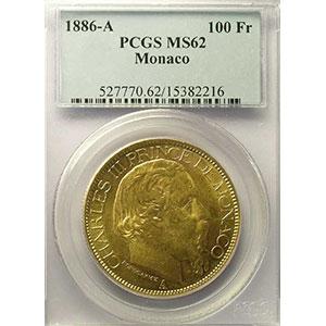 1886 A  (Paris)    PCGS-MS62    SUP/FDC
