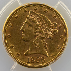 1886 S  (San Francisco)    PCGS-AU58    SUP