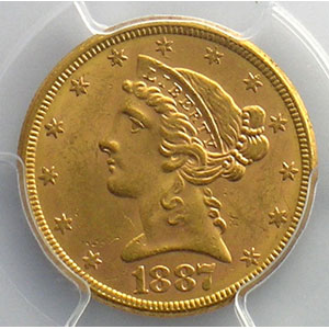 1887 S    PCGS-MS63    SUP/FDC