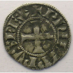 Photo numismatique  Monnaies Monnaies royales fran�aises Philippe IV   (1285-1314) Duplessy 225   Denier Tournois � l'O long TTB/TTB+