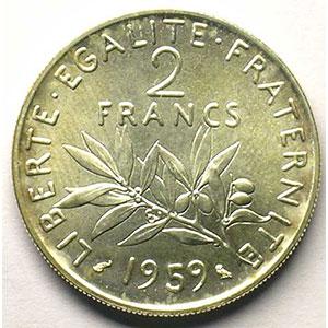 1959 Essai en argent    FDC