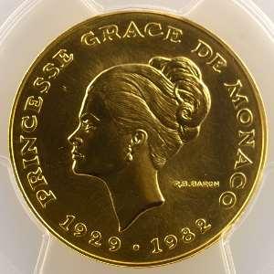 1982 Essai en or   Grace Kelly    PCGS-SP69    FDC