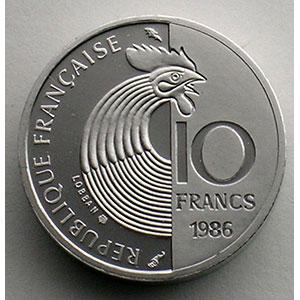 1986   Piéfort en Platine    FDC