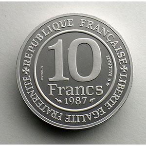 1987   Piéfort en Platine    FDC