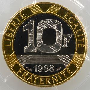 1988   or blanc/or jaune    PCGS-PR68DCAM