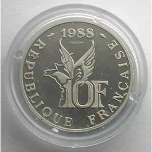 1988   Piéfort en Platine    FDC