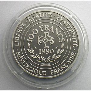 1990   Piéfort en Platine    FDC