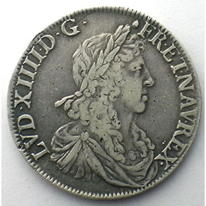 Photo numismatique  Monnaies Monnaies royales fran�aises Louis XIV   (1643-1715) G.173   Demi-Ecu au buste juv�nile