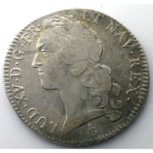 Photo numismatique  Monnaies Monnaies royales fran�aises Louis XV   (1715-1774) G.322   Ecu au Bandeau