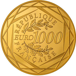 Photo numismatique  Monnaies Euros - Or France Monnaies courantes