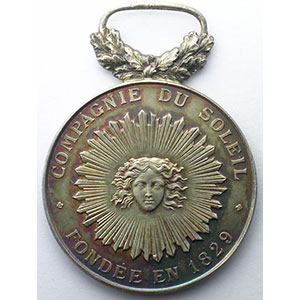 Photo numismatique  Monnaies Jetons & M�dailles Numismatique des Compagnies d'Assurances Le Soleil