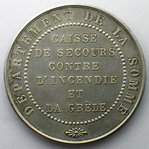 Photo numismatique  Monnaies Jetons & M�dailles Numismatique des Compagnies d'Assurances Somme