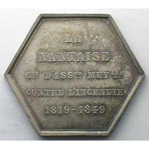 Photo numismatique  Monnaies Jetons & M�dailles Numismatique des Compagnies d'Assurances Nantaise