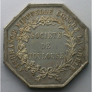 Photo numismatique  Monnaies Jetons & M�dailles Numismatique des Compagnies d'Assurances Toulouse