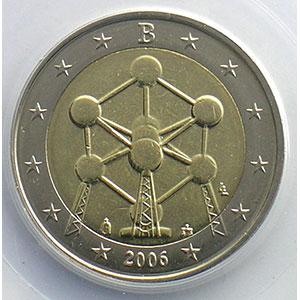 2 €   2006 Atomium   coins tournés 100° horaire    PCGS-MS64   pr.FDC